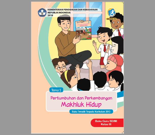 Buku Guru dan Siswa Kurikulum 2013 Kelas 3 SD MI Semester 1 Revisi 2018