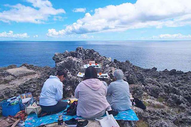 prayer, rituals, offerings, Okinawa, women, ocean, islands
