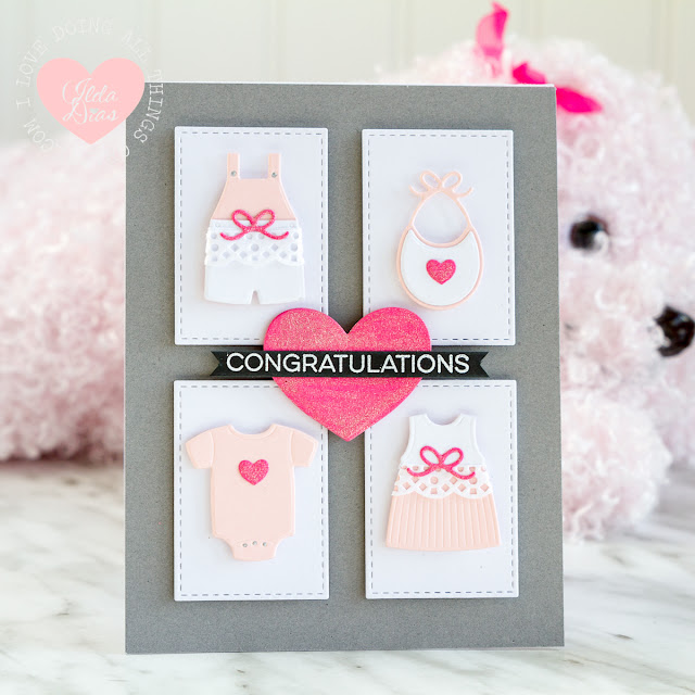 Congratulations on your Baby Girl Card - My Favorite Things
