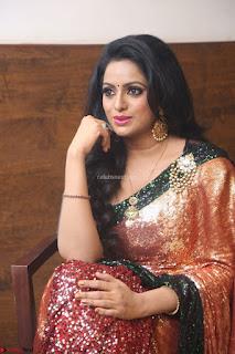 Udaya Bhanu lookssizzling in a Saree Choli at Gautam Nanda music launchi ~ Exclusive Celebrities Galleries 001.JPG