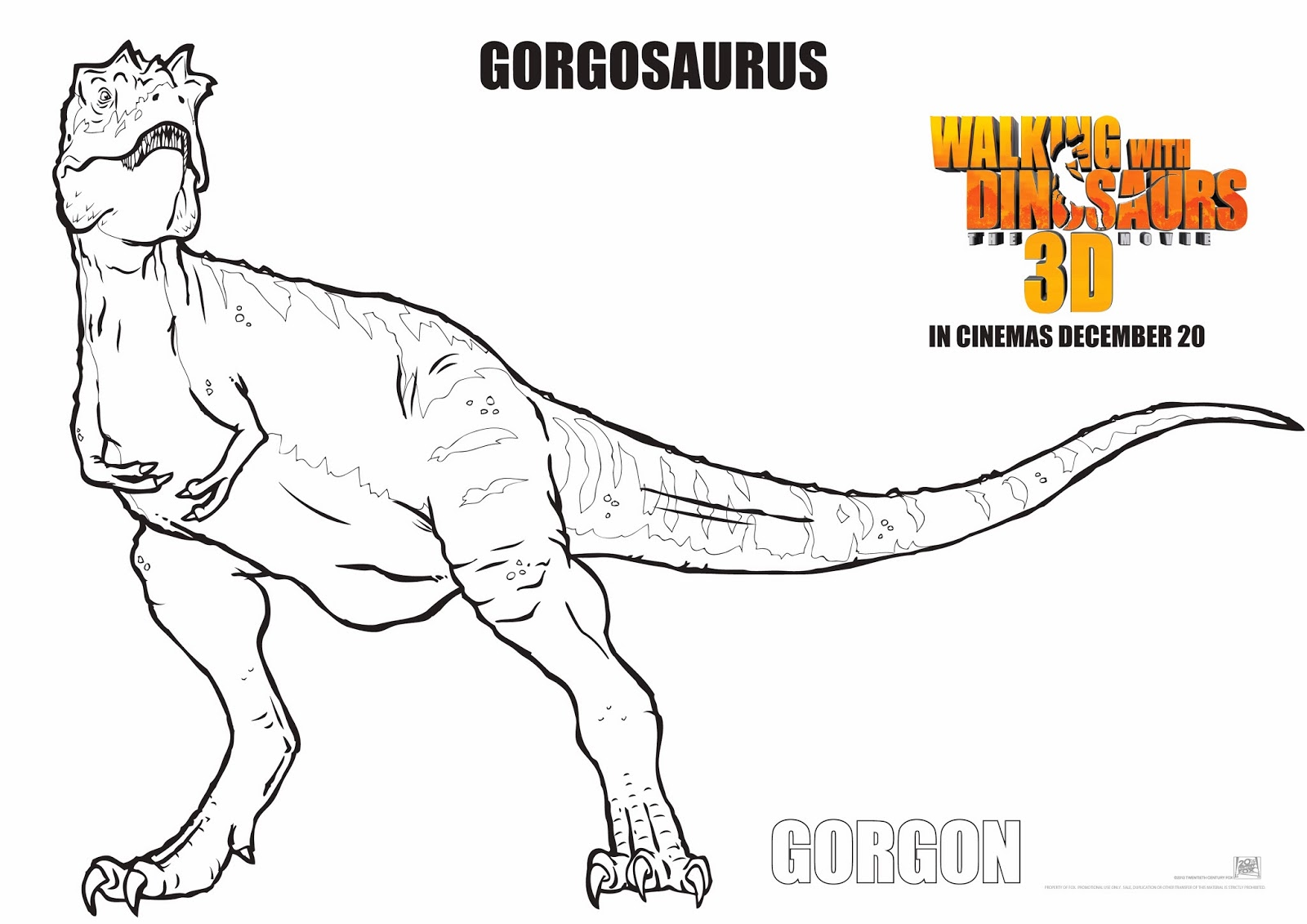 walking with dinosaurs coloring pages - photo #5