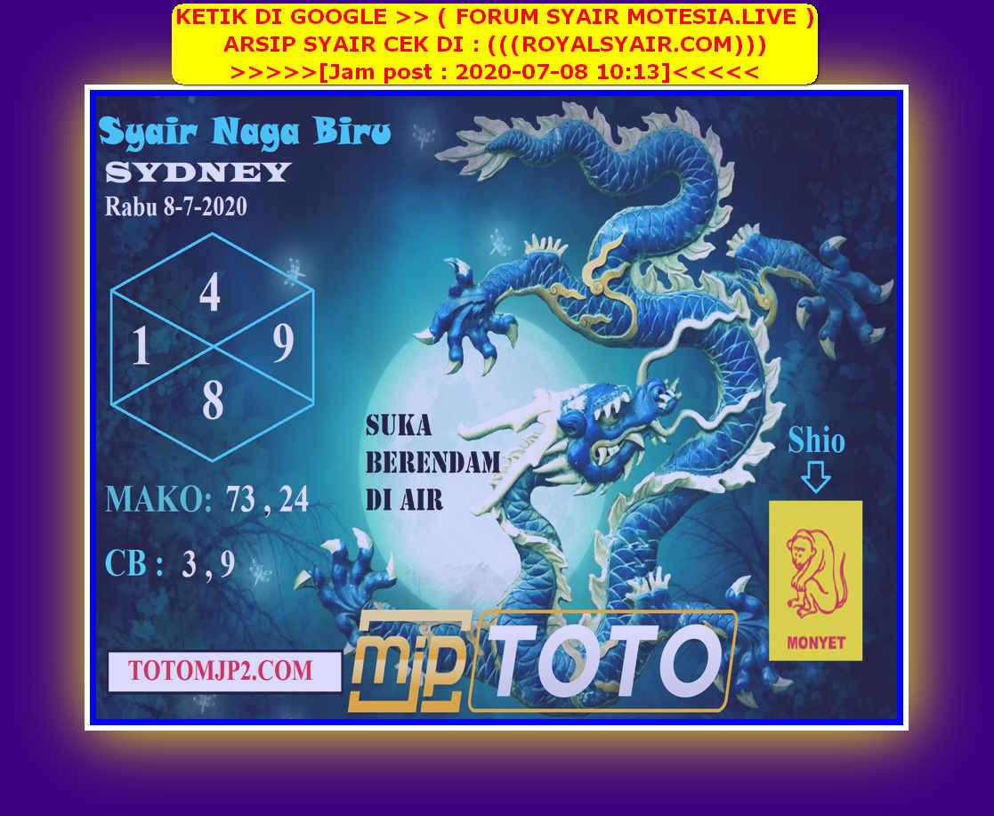 Kode syair Sydney Rabu 8 Juli 2020 70