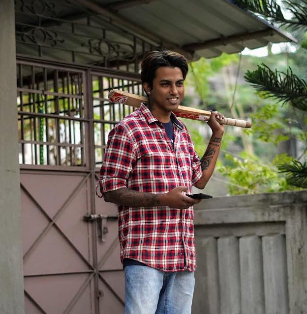 Sourajit Saha Playing Cricket 3