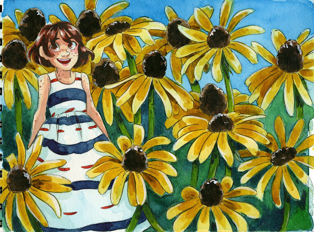 watercolor illustration, kidlit art, cute art, cute illustration, manga illustration