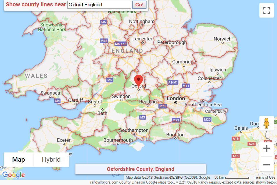 Map Of England Google Maps.County Lines Across The Pond Uk And Ireland Coverage Added
