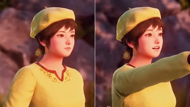 An example of Shenhua's changing facial expression