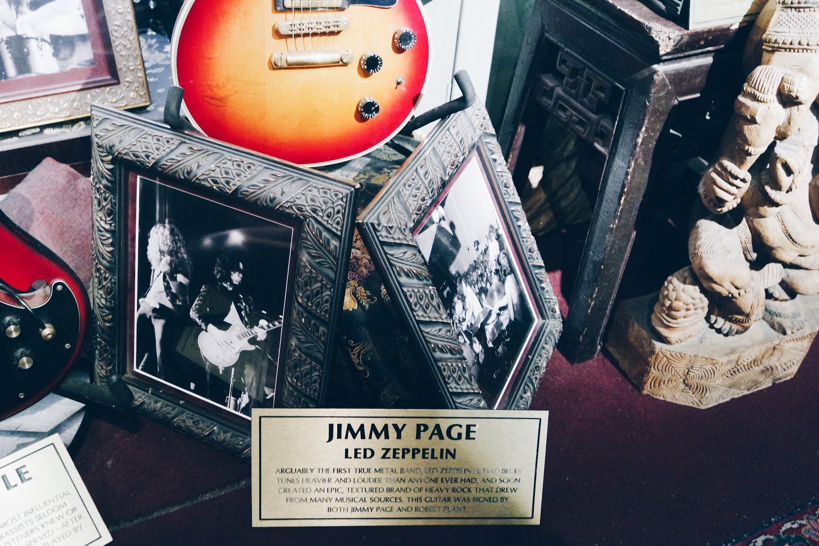hard rock cafe, london, jimmy page, jimmy hendrix, rock n roll, guitare,