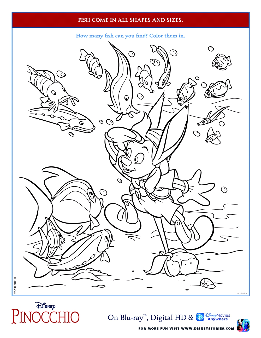 Pinocchio Activity Coloring Sheets Babushka S Baile