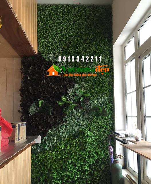 Thi Công tường cây giả - Đẹp như tường cây thật - 13