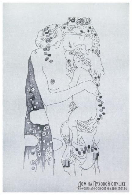 Вышивка Густав Климт Три возраста женщины