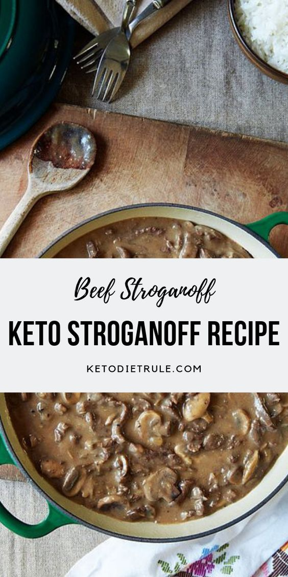 Beef Stroganoff Recipe with Sour Cream - Low-Carb Keto Meal #dinner #maincourse #beef #stroganoff #sour #cream #lowcarb #keto #meal