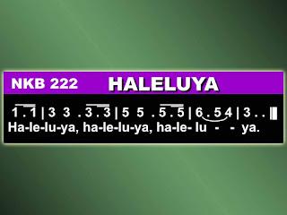 Lirik dan Not NKB 222 Haleluya