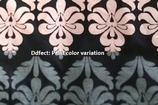 Printing defect in garment panels