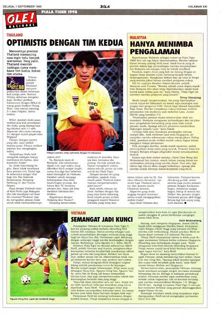 TIGER CUP 98 THAILAND OPTIMIS
