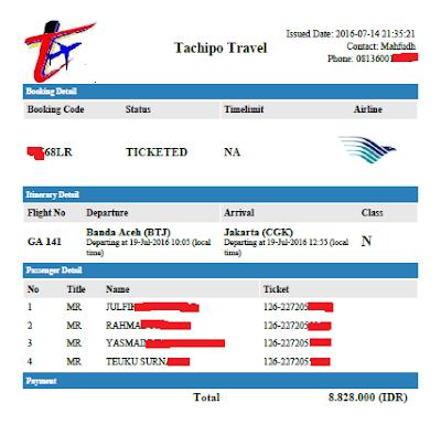 tiket dari tachipo travel