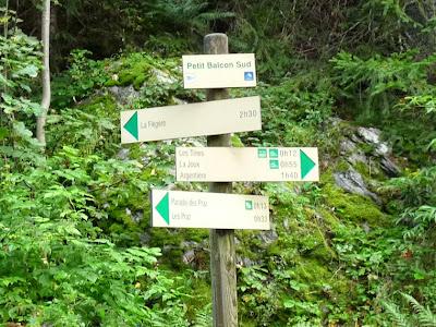 シャモニー渓谷のお散歩コース プティ・バルコン・シュッド