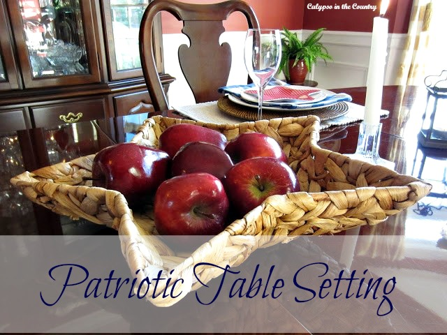 Patriotic Table Setting in the Dining Room