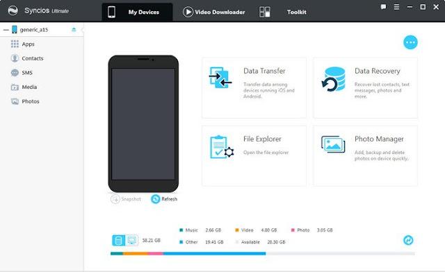 تحميل برنامج نقل الملفات للايفون والاندرويد للكمبيوتر iOS & Android Manager
