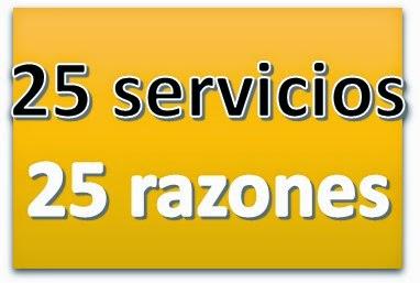 25 SERVICIOS