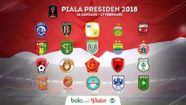 Klasemen Piala Presiden 2018