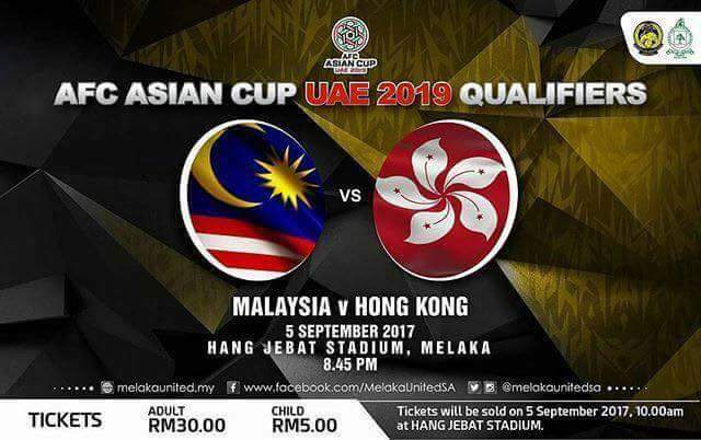 AFC Asean Cup 2018 : Malaysia vs Hong Kong