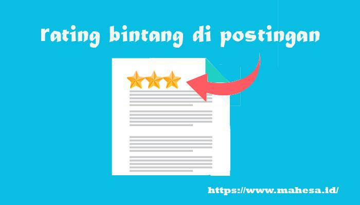 Menambahkan Rating Bintang di Postingan Blog