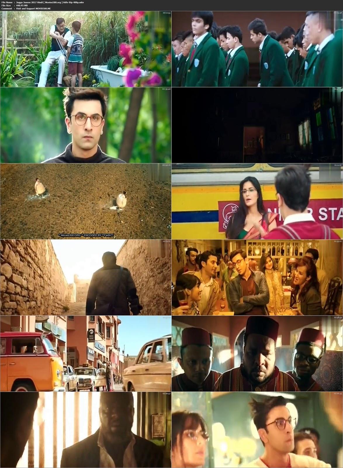 Jagga Jasoos 2017 Bollywood 400MB HDTV Rip 480p at movies500.site