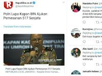 "Polri Lupa Kapan ""Beli"" 500 Senjata, Netizen: Kayak Beli Cabe Aja Bisa Lupa"
