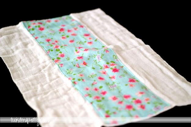 Simply modern mom » blanket stitched burp cloths tutorial.