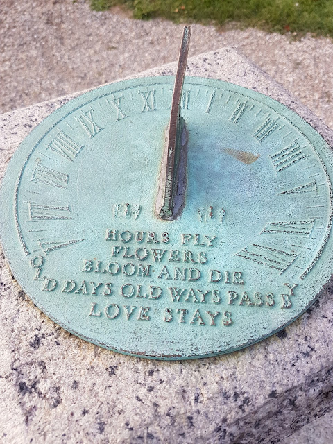 Salem Massachusetts Ropes Mansion Sundial Garden Quote