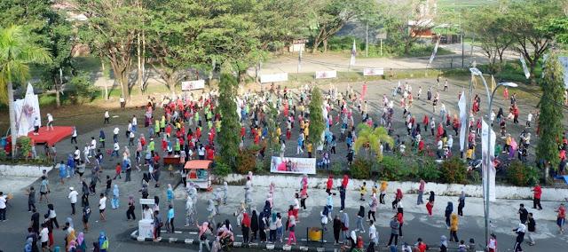 BPJS Kesehatan Cabang Watampone Gelar Pembersihan Pasca Senam Sehat Kolosal