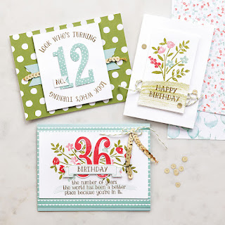Stampin' Up Number of Years Birthday Cards