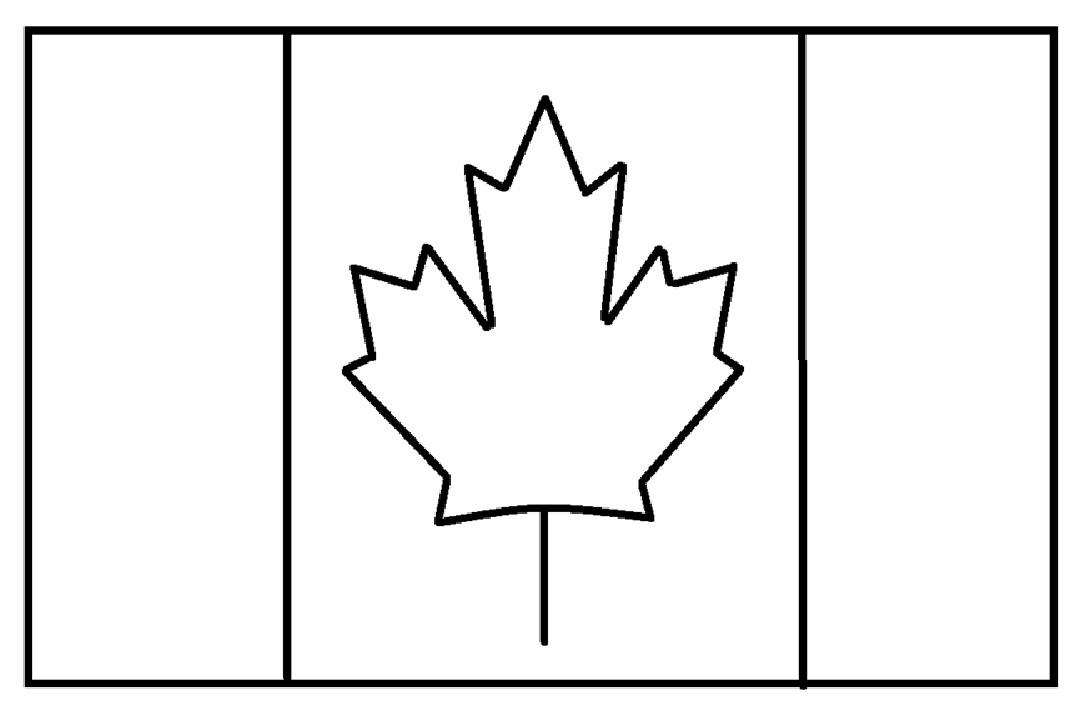 Mewarnai Gambar Sketsa Bendera Negara Kanada