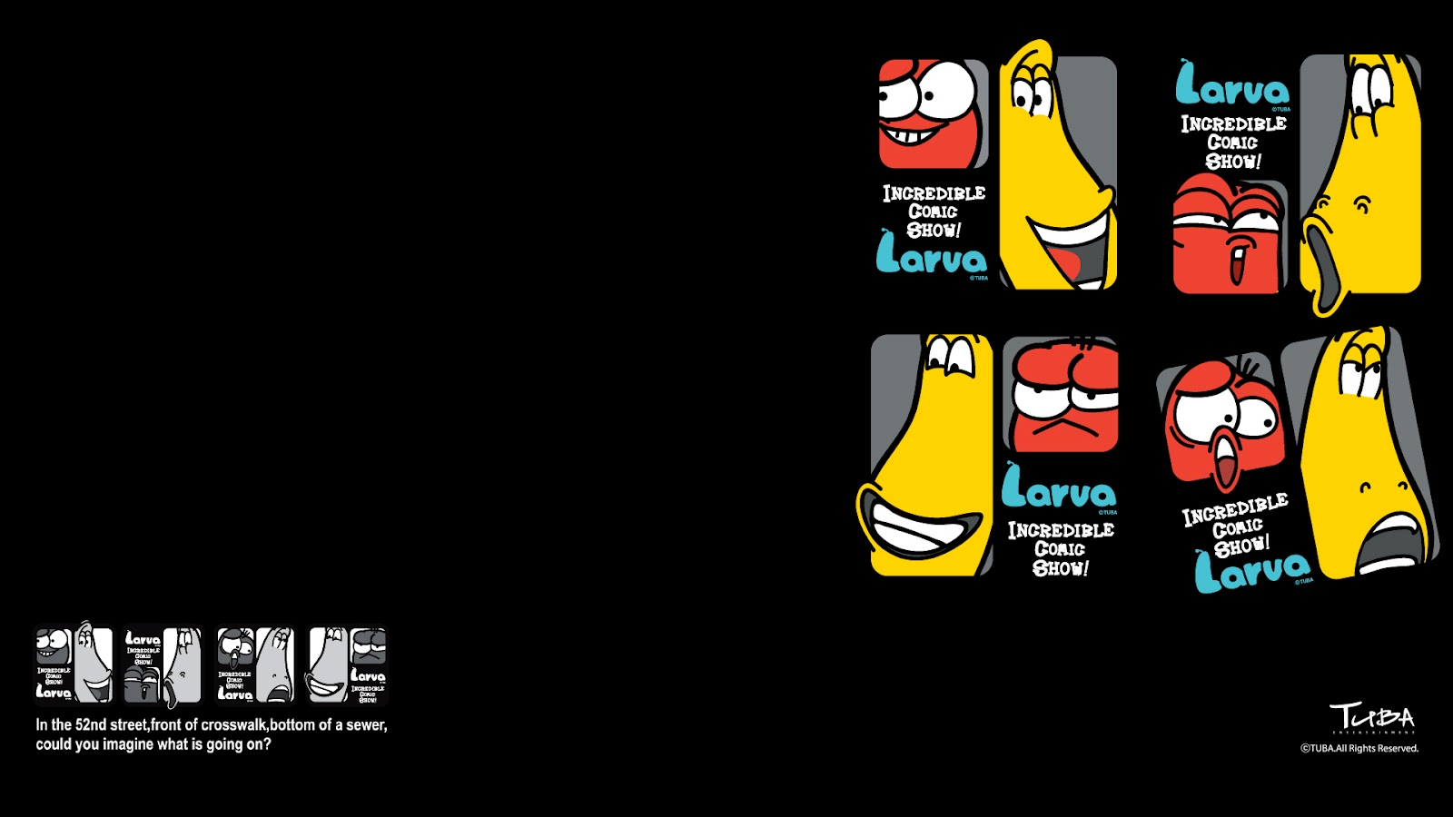 Larva Kartun Wallpaper