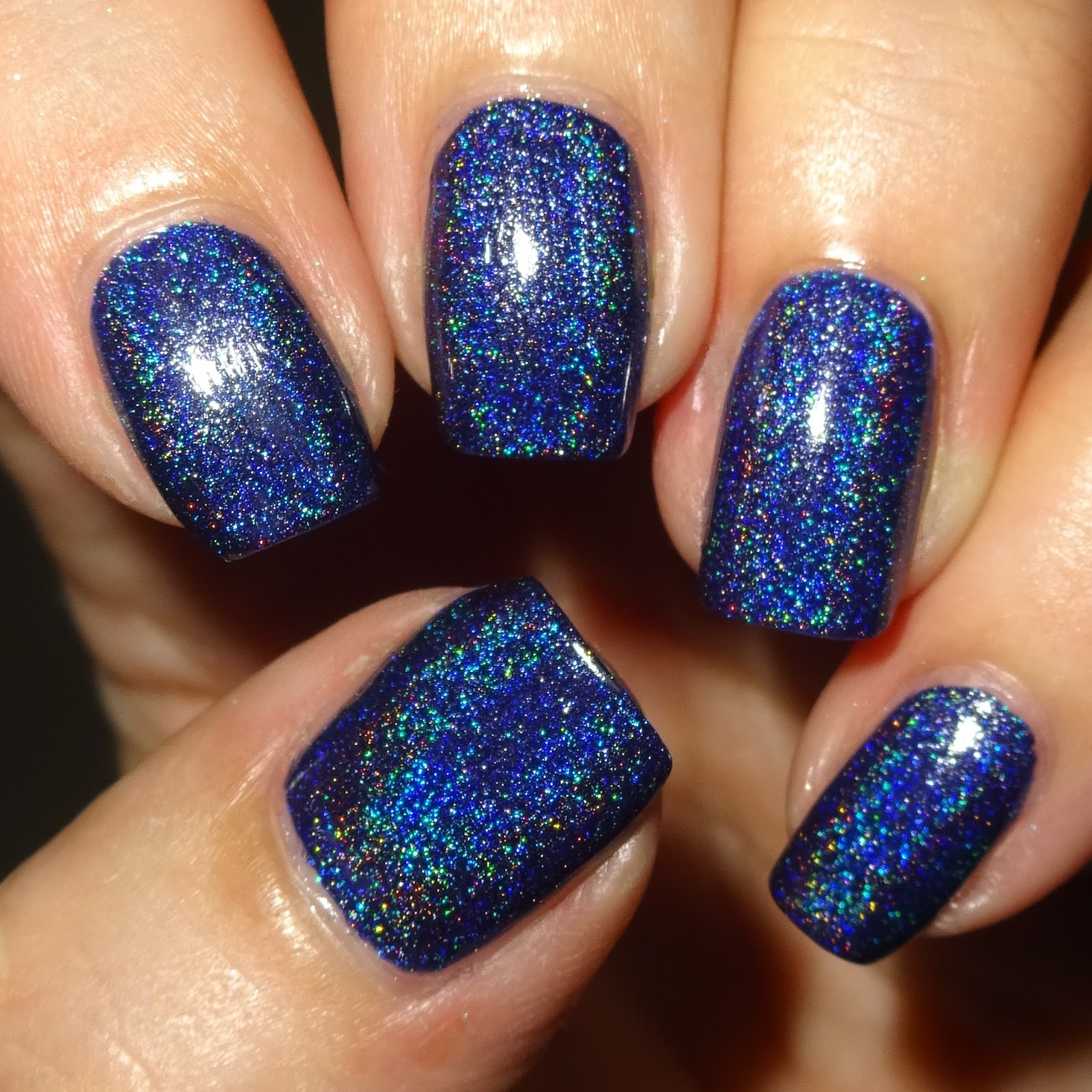 Wendy\'s Delights: Navy Blue Holographic Nail Polish from Born Pretty ...