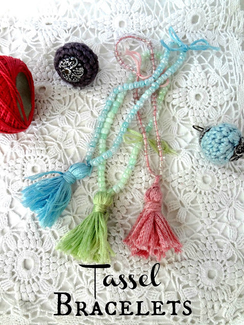 bead and tassel bracelets