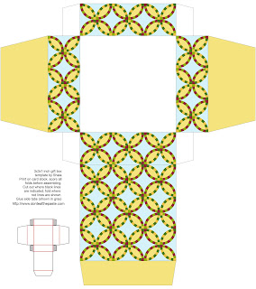 Wedding ring quilt printable box available in 2 sizes. #printables #papercraft