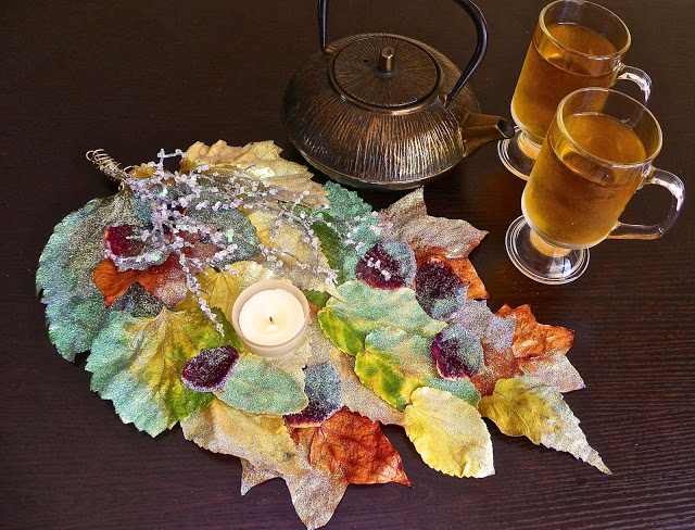 fall leaves centerpiece lisa fulmer