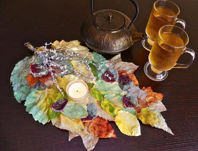 fall leaves centerpiece lisa fulmer