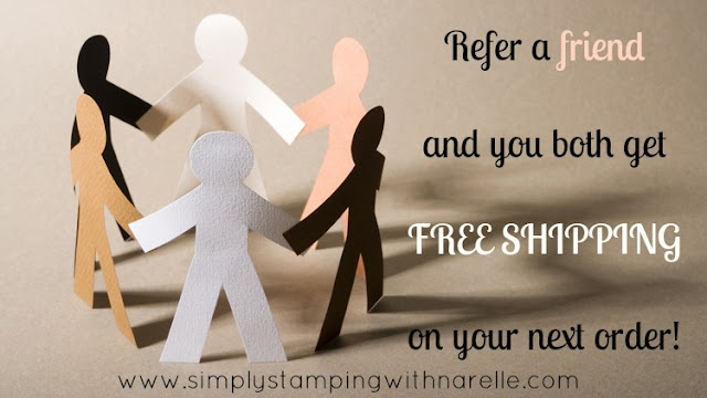 Refer a Friend and you both get FREE shipping - Simply Stamping with Narelle - shop here - https://www3.stampinup.com/ecweb/default.aspx?dbwsdemoid=4008228