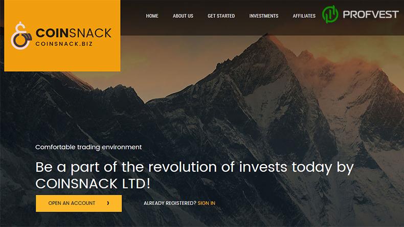 CoinSnack обзор и отзывы вклад 500$