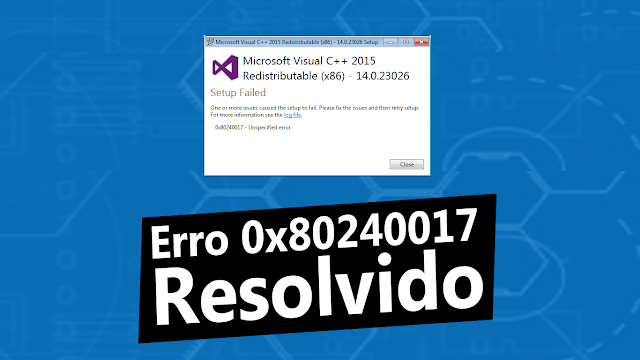 Erro 0x80240017 Resolvido