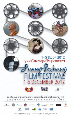 Poster cover of the Luangprabang Film Festival 2012 Dec 1-5
