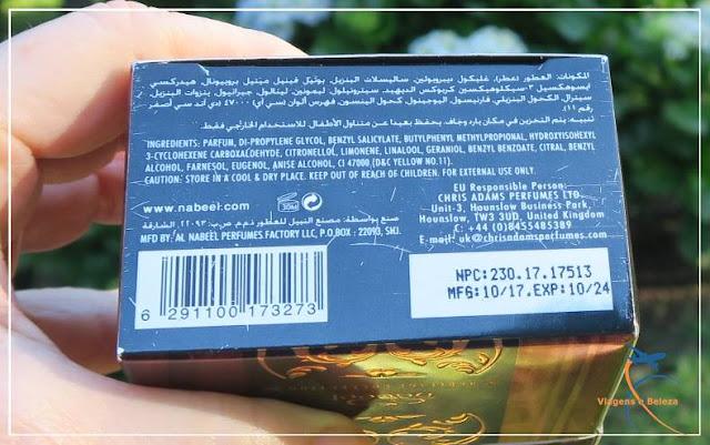 Perfume concentrado em óleo Al Ghadeer, by Nabeel