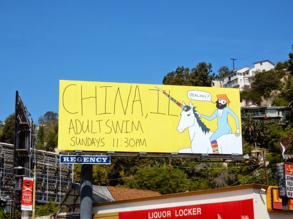 China IL season 3 Adult Swim billboard
