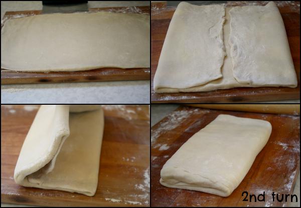 Pretzel Croissants - dough 2nd turn