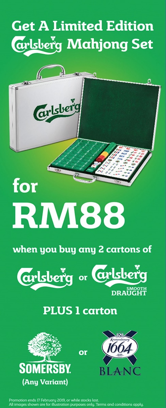 Get your hands on Probably The Best Limited Edition Mahjong Sets for only RM88 at participating supermarkets and hypermarkets!