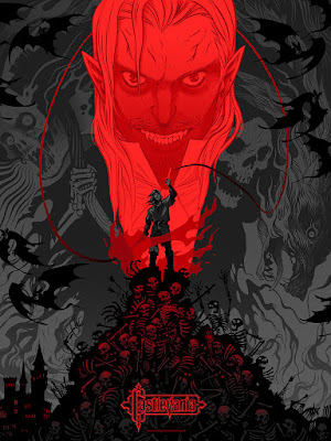 Emerald City Comicon 2016 Exclusive Castlevania Variant Screen Print by Becky Cloonan x Mondo