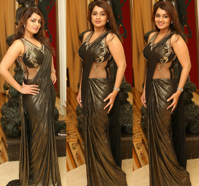 Nikitha in Gaurav Gupta Saree Gown