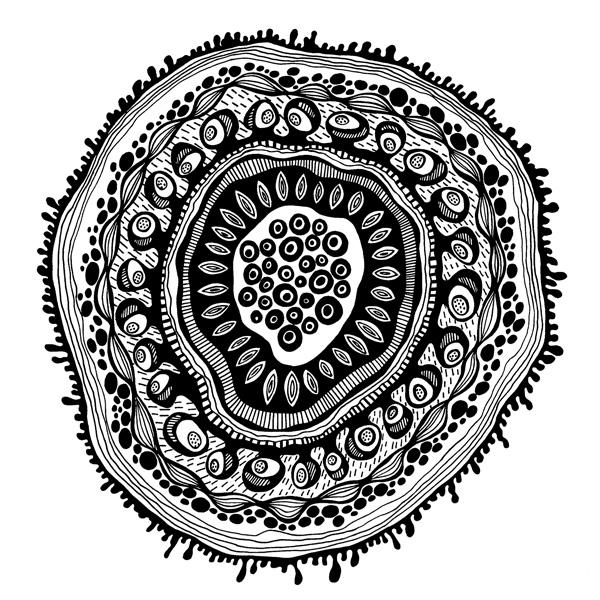 графика рисунок черно белый ручками лайнерами клипарт